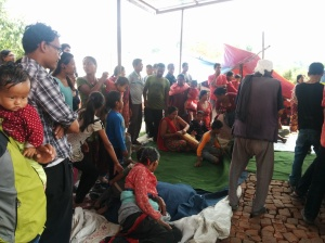 Relief camp at Bhaktapur